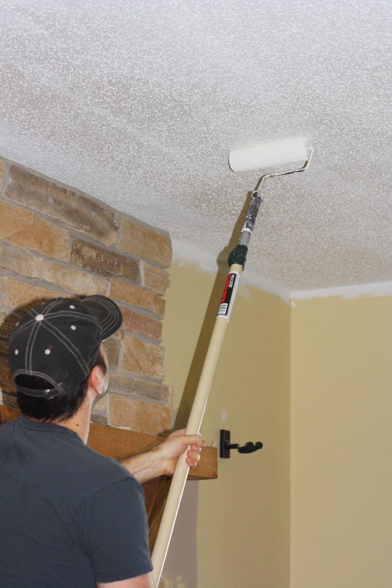 Painting Popcorn Ceilings Popcorn Ceiling Diy Ceiling Paint Ceiling Paint Colors