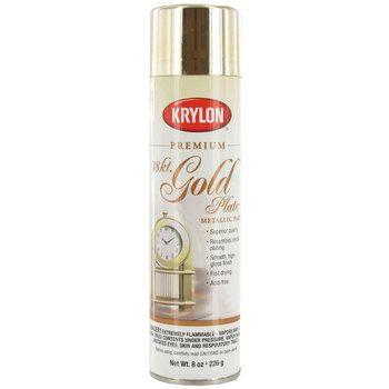 18k Gold Krylon Shimmer Metallic Spray Paint 8 Ounce Golden