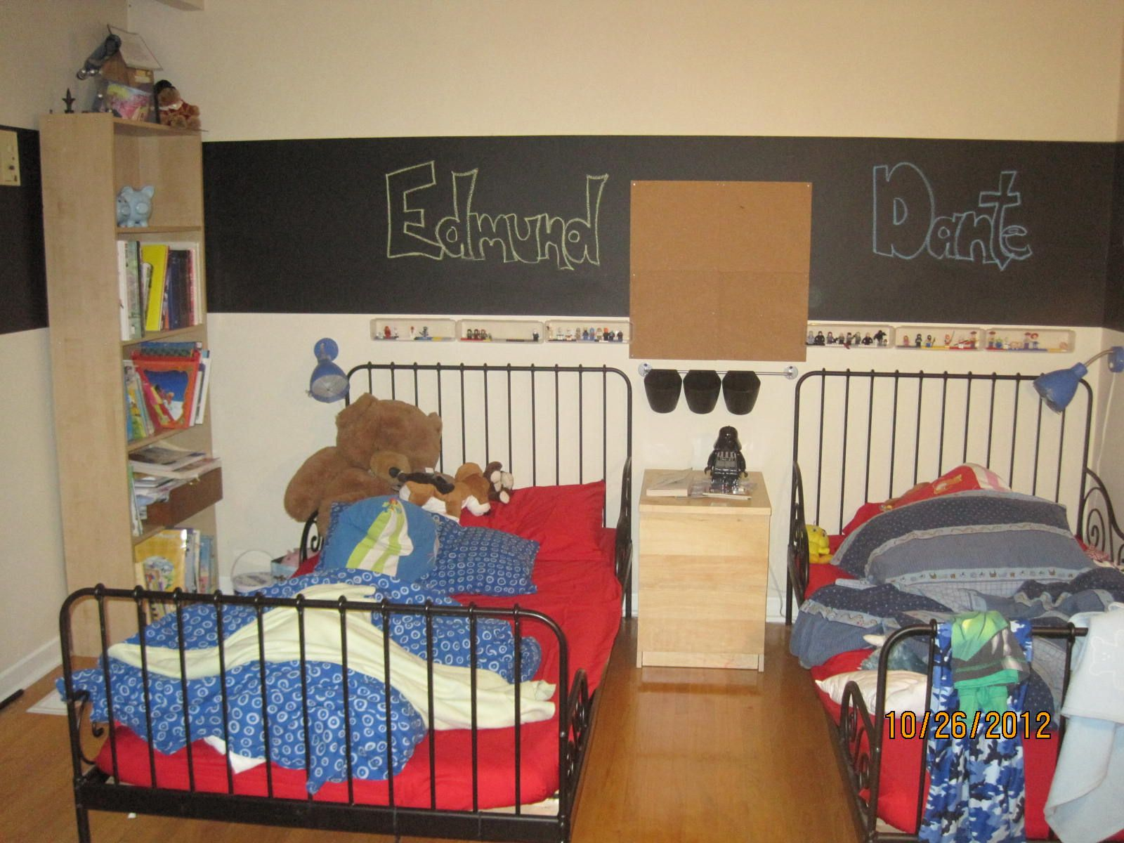 Homemade chalkboard paint (1/2 gallon paint to 1 cup dry