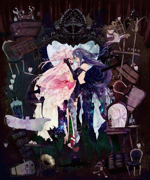 Madoka and Homura - Mahou Shoujo Puella Magi Madoka Magica