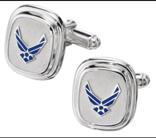 Air Force Classic Cuff Links w/ Service Branch Insignia