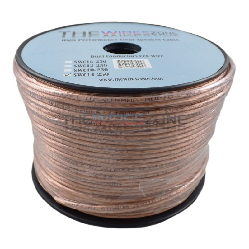 Car Home Audio Speaker Wire Transparent Clear Cable 16AWG 16//2 Gauge 250ft