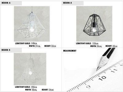 Pendentif cage de diamant fil lumière / par GlassandbrassCo sur Etsy