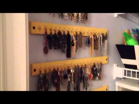 Hanging Jewelry Organizer Paint Stick Project Hanging jewelry