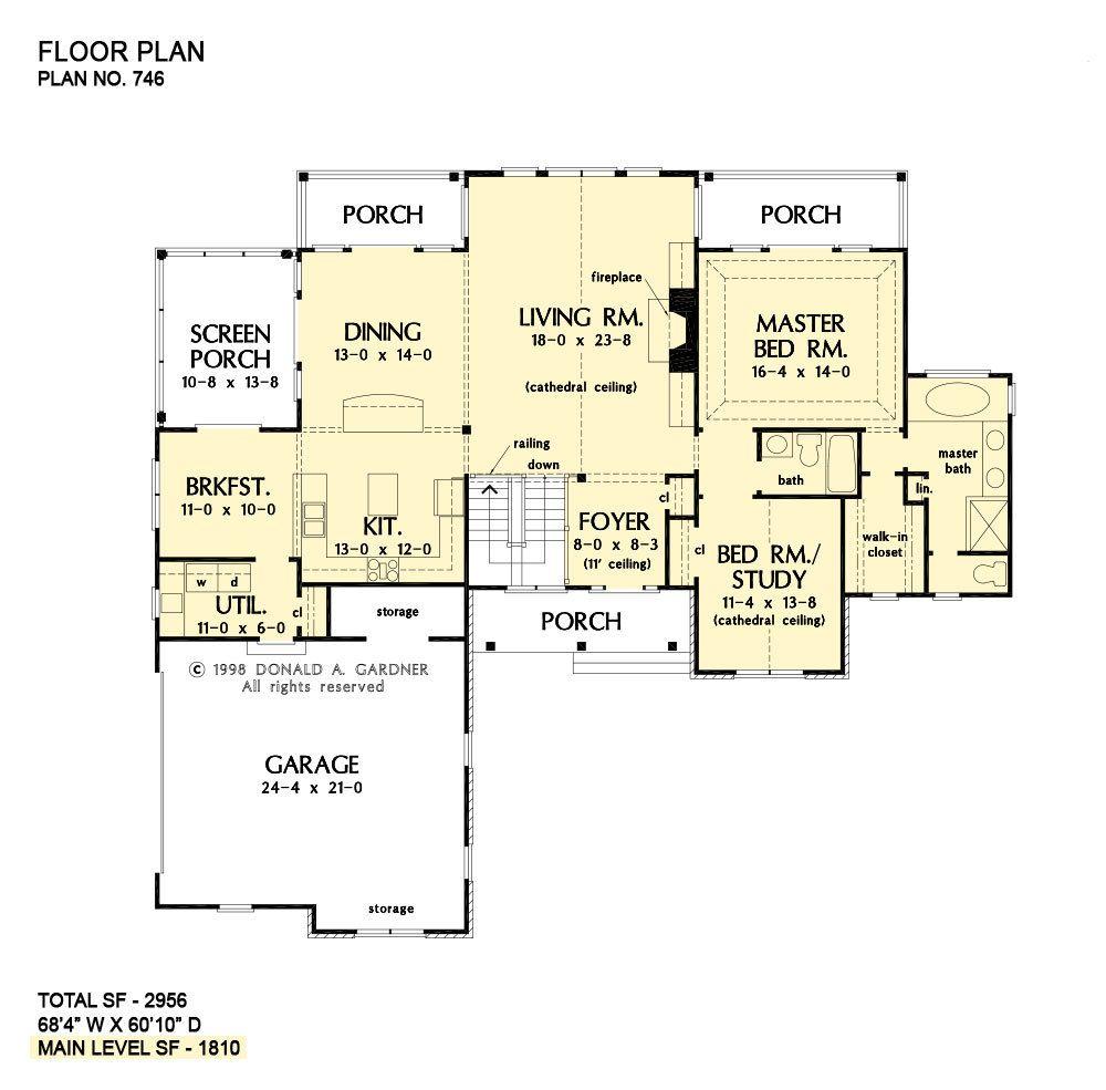Walkout Basement House Plans Craftsman Home Plans