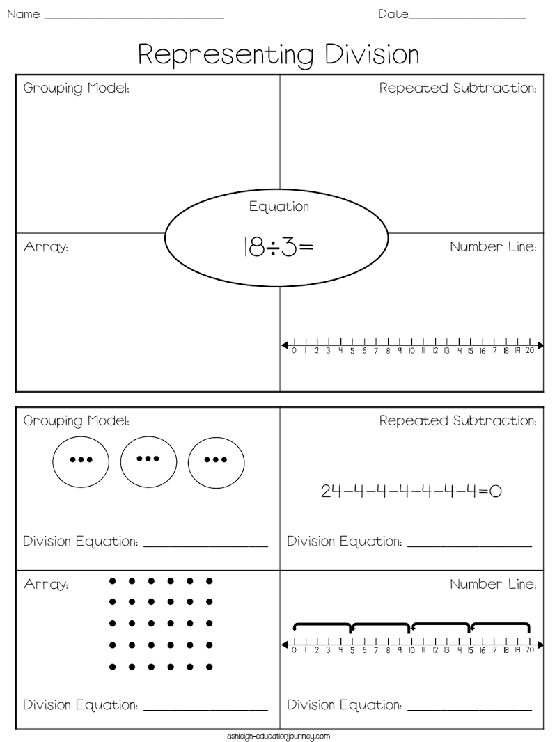 representing division.pdf Math division, Math instruction