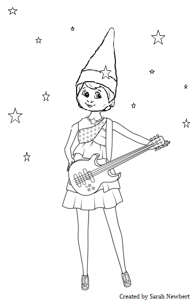 Coloring Pages Elf Collection