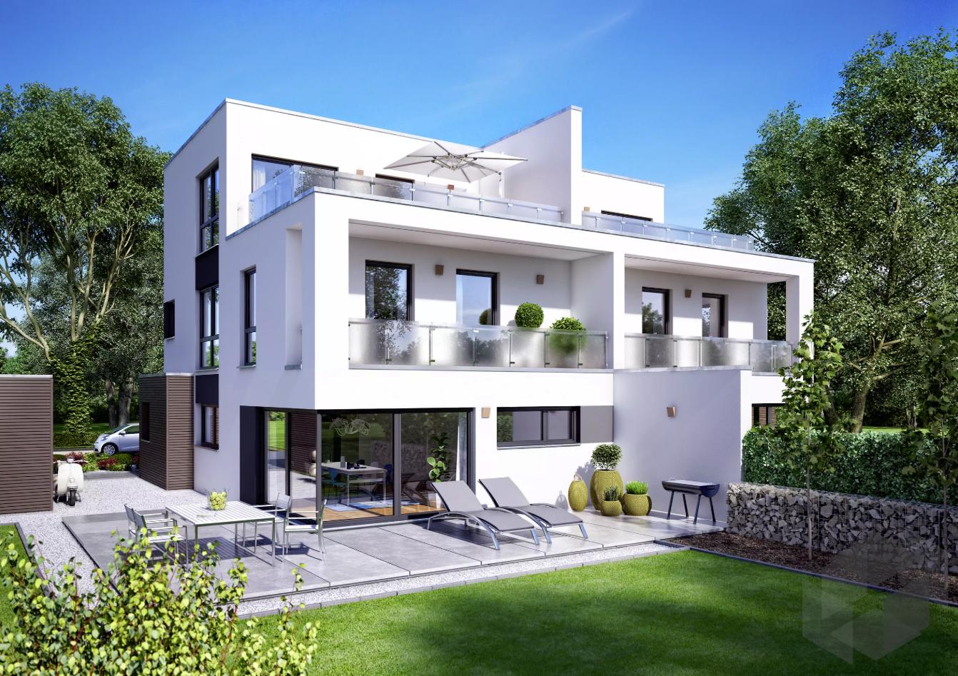 """Doppelhaus """"Gemello FD 280"""" mit 3 Etagen von Büdenbender"""