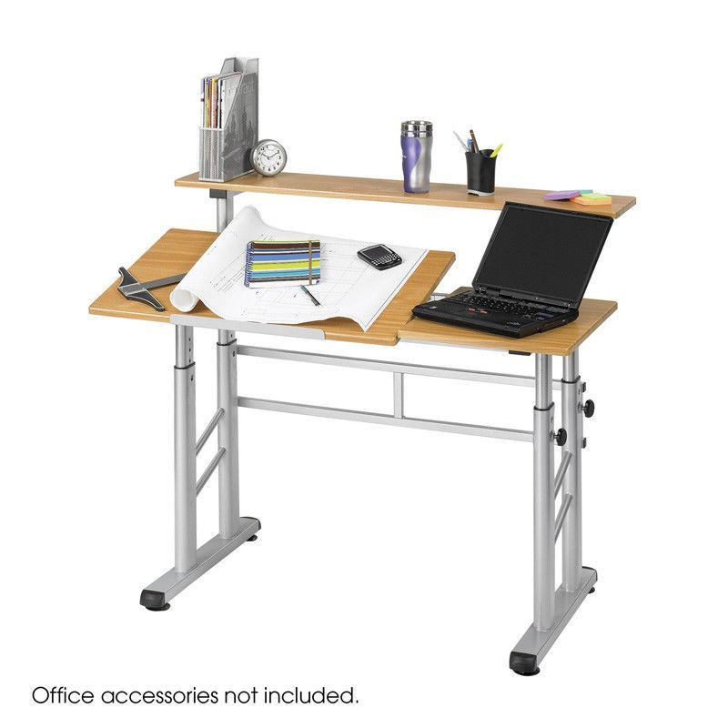 Safco 3965MO Height-Adjustable Split Level Drafting Table