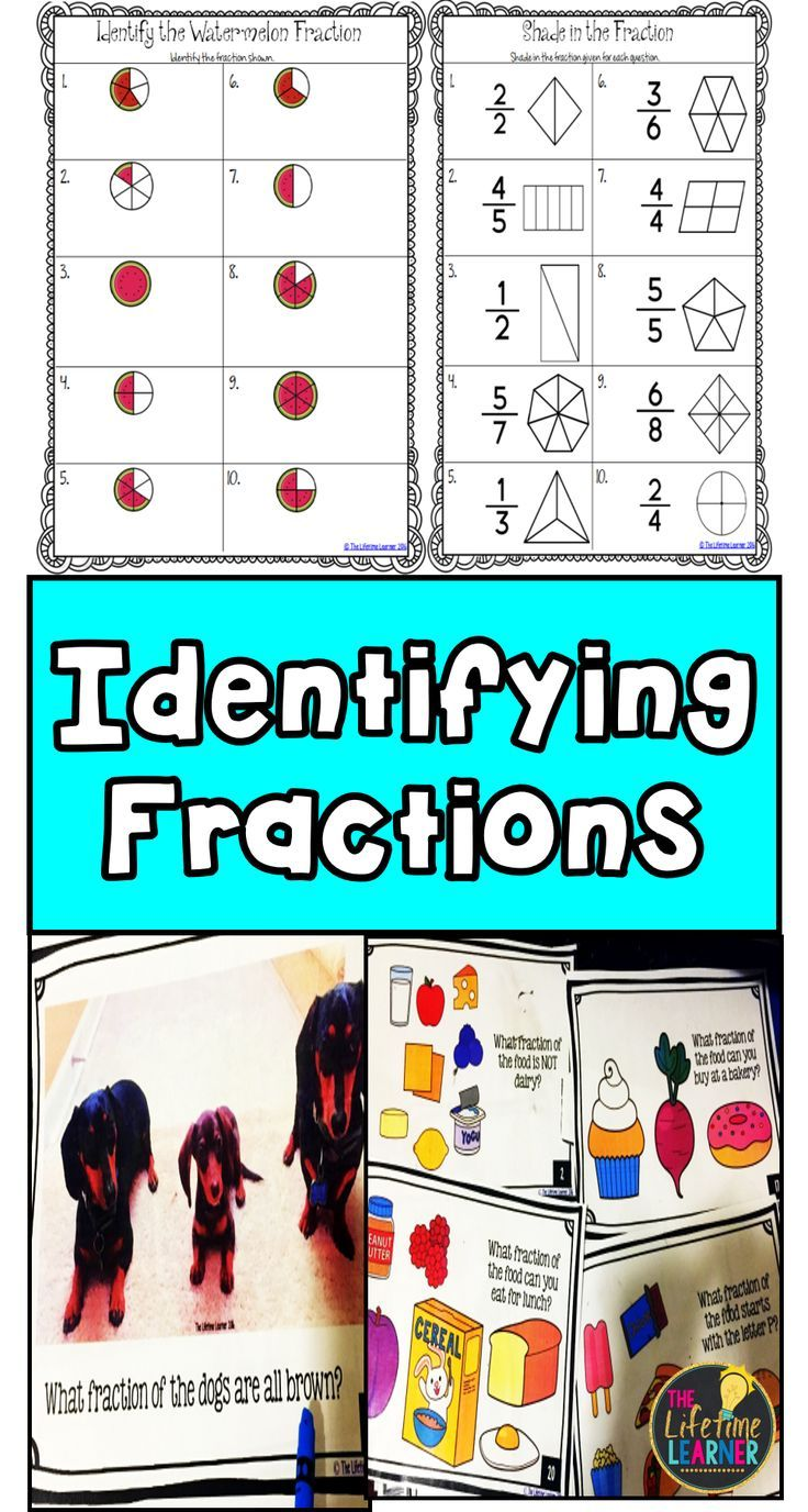 Identifying Fractions - Fraction Worksheets Activities Games ...