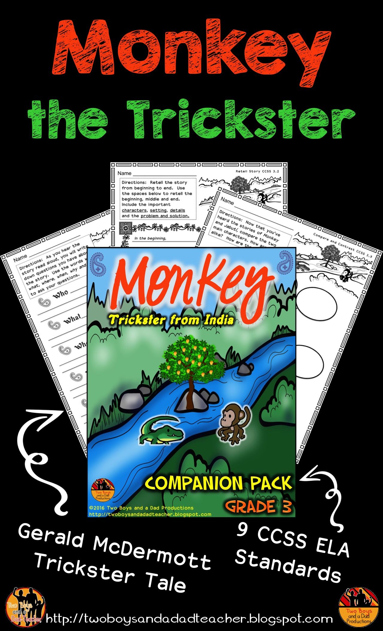 Monkey Trickster Tale From India Literature Standards