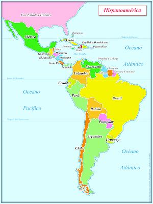 Carte Des Pays Hispanophones Dans Le Monde : carte, hispanophones, monde, Encanta, Escribir, Español, Espagnol, Apprendre,, Cours, Espagnol,