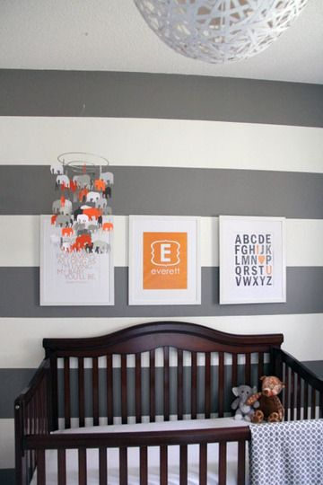 Everett S Grey White Room With Vibrant Pops Blue Nursery Boy
