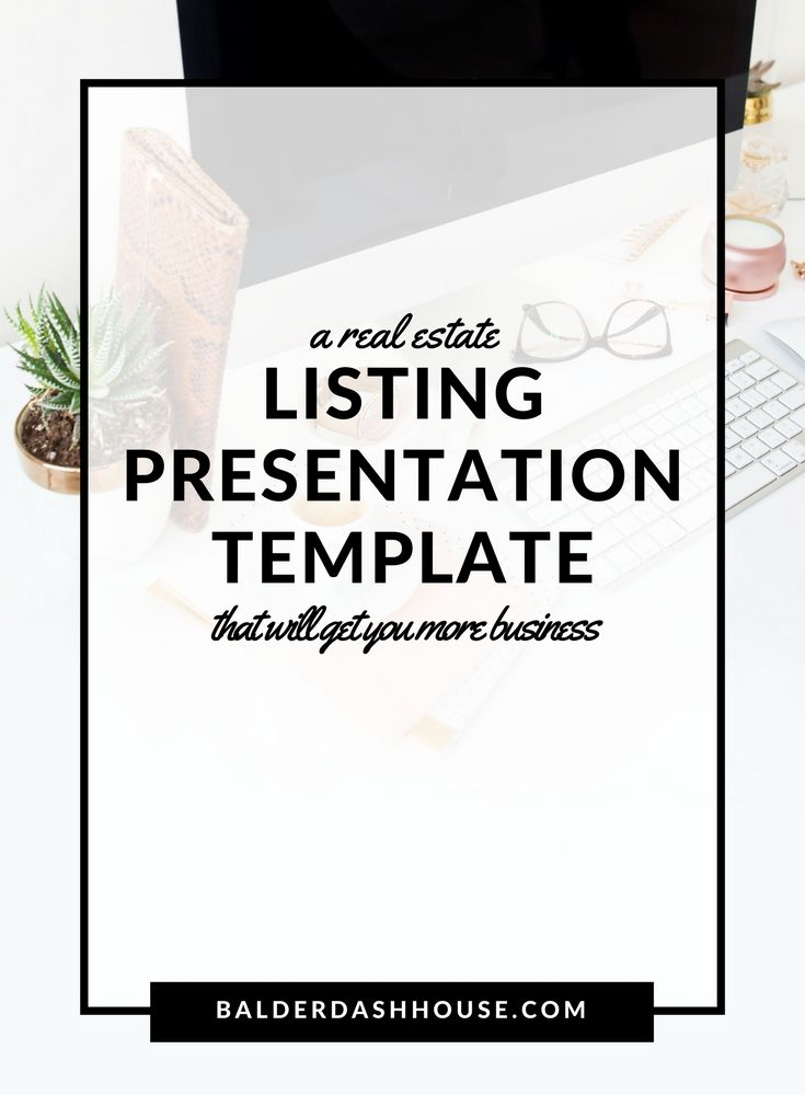 a real estate listing presentation template to help you get more