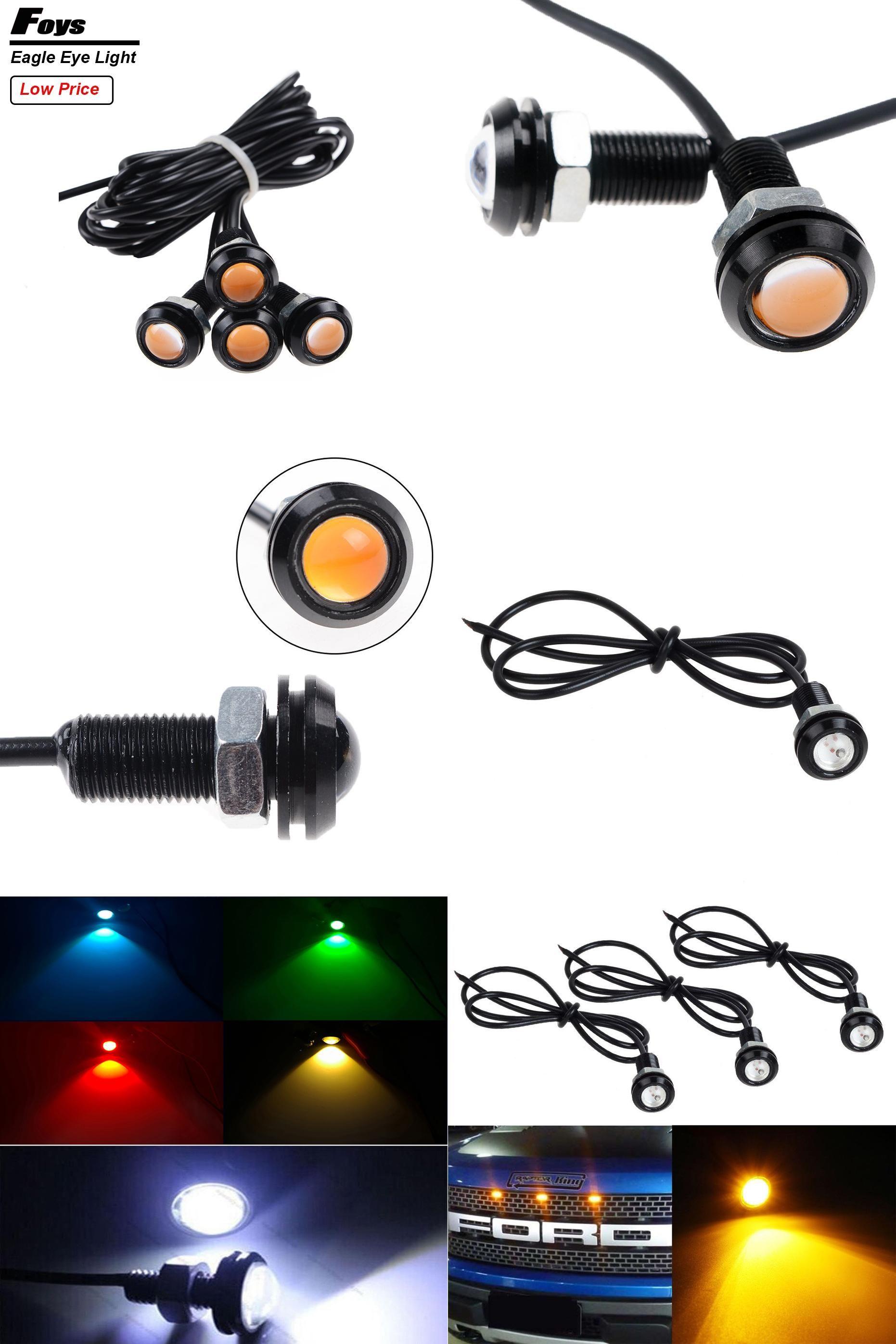 [Visit To Buy] 1 Pcs Car Styling Led Eagle Eye DRL Daytime Running Lights  Source Backup Reversing Parking Signal Lamps Waterproof