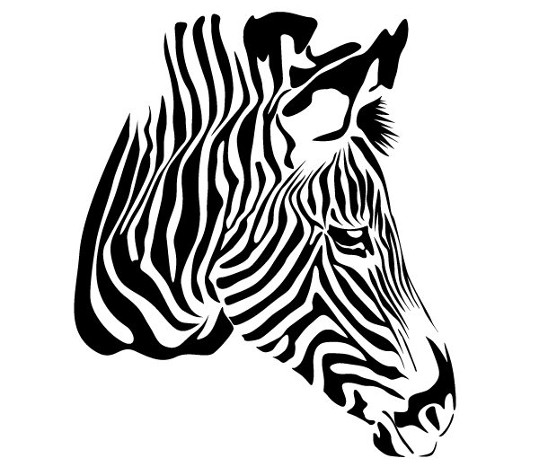 zebra head vector free free stenciling and silhouettes rh pinterest com zebra vector tileable zebra victor vasarely medium