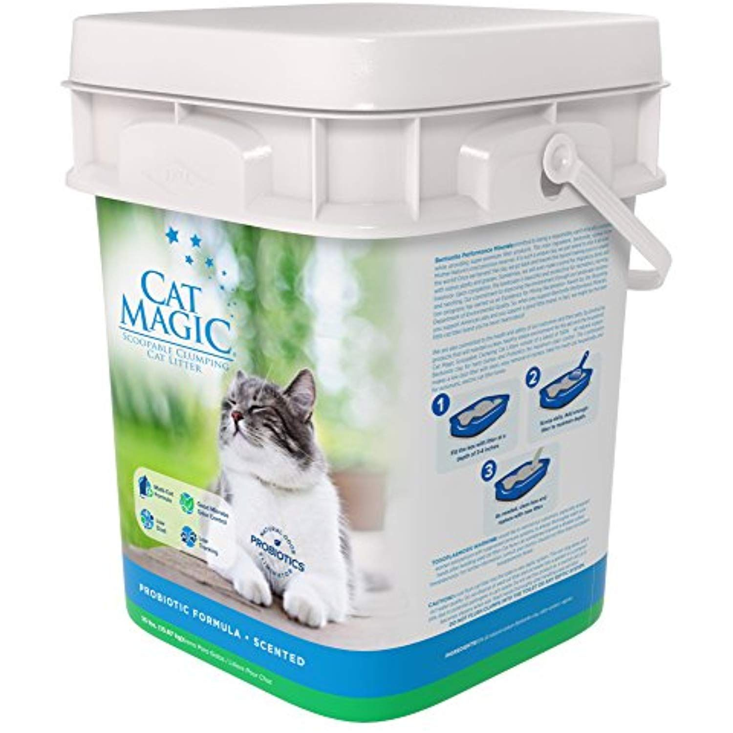 Cat Magic Scented Clumping Clay Cat Litter 35 Pound Check This