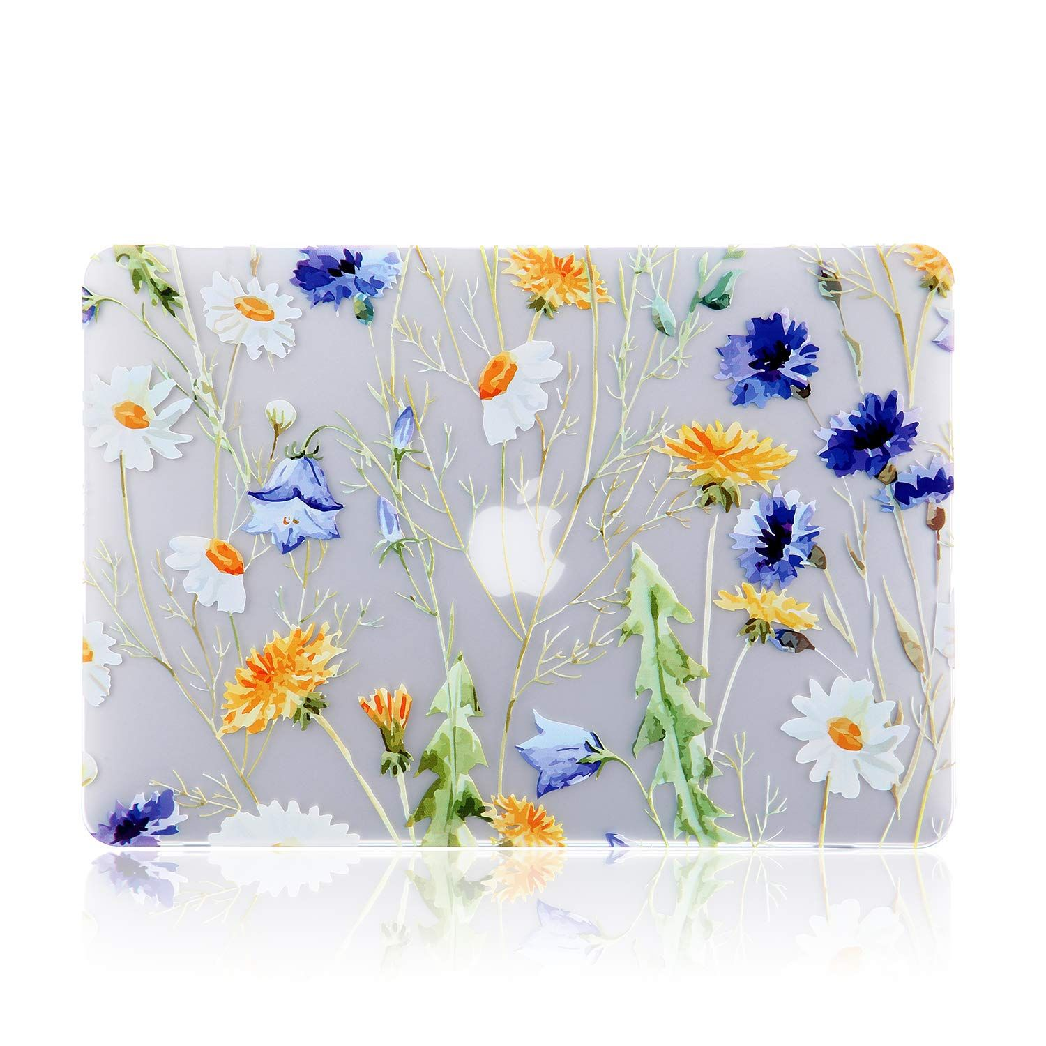 iDonzon MacBook Pro 13 inch Case 2008-2012 Release, 3D Effect Matte See Through Hard Case Cover Only Compatible MacBook Pro 13 inch with CD-ROM (Model: A1278) - Floral Pattern