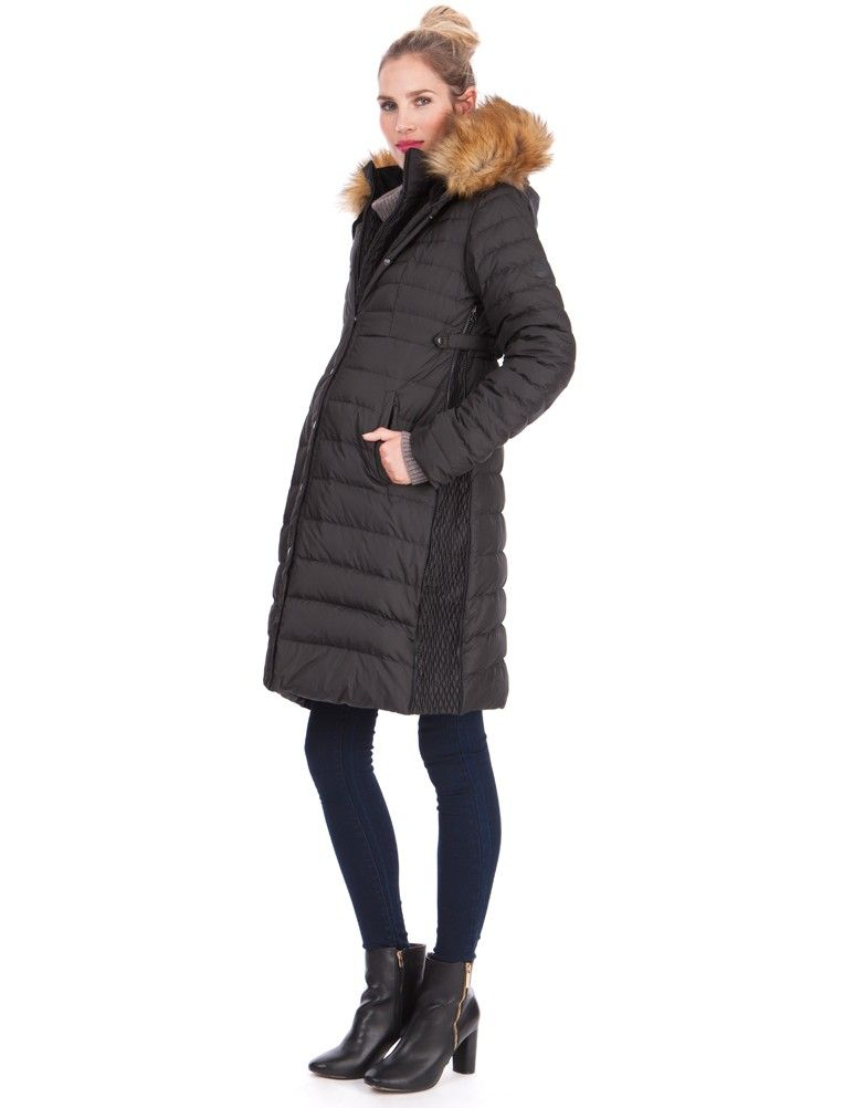 Super Warm Down Maternity Winter Coat Maternity Coat Maternity Winter Coat Faux Fur Lined Coat