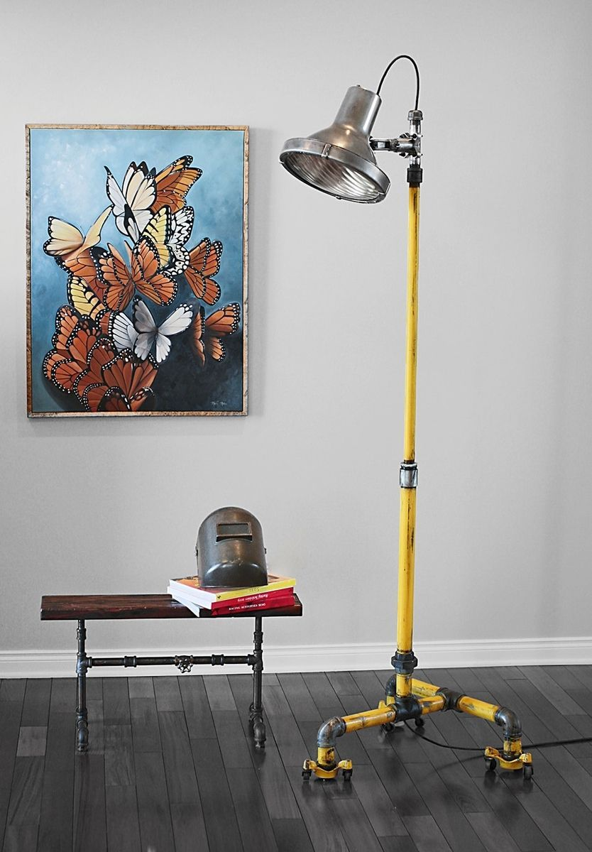 Vintage Industrial Floor Lamp Crouse Hinds Light Vintage Floor Lamp Industrial Floor Lamp Vintage Industrial Floor Lamps
