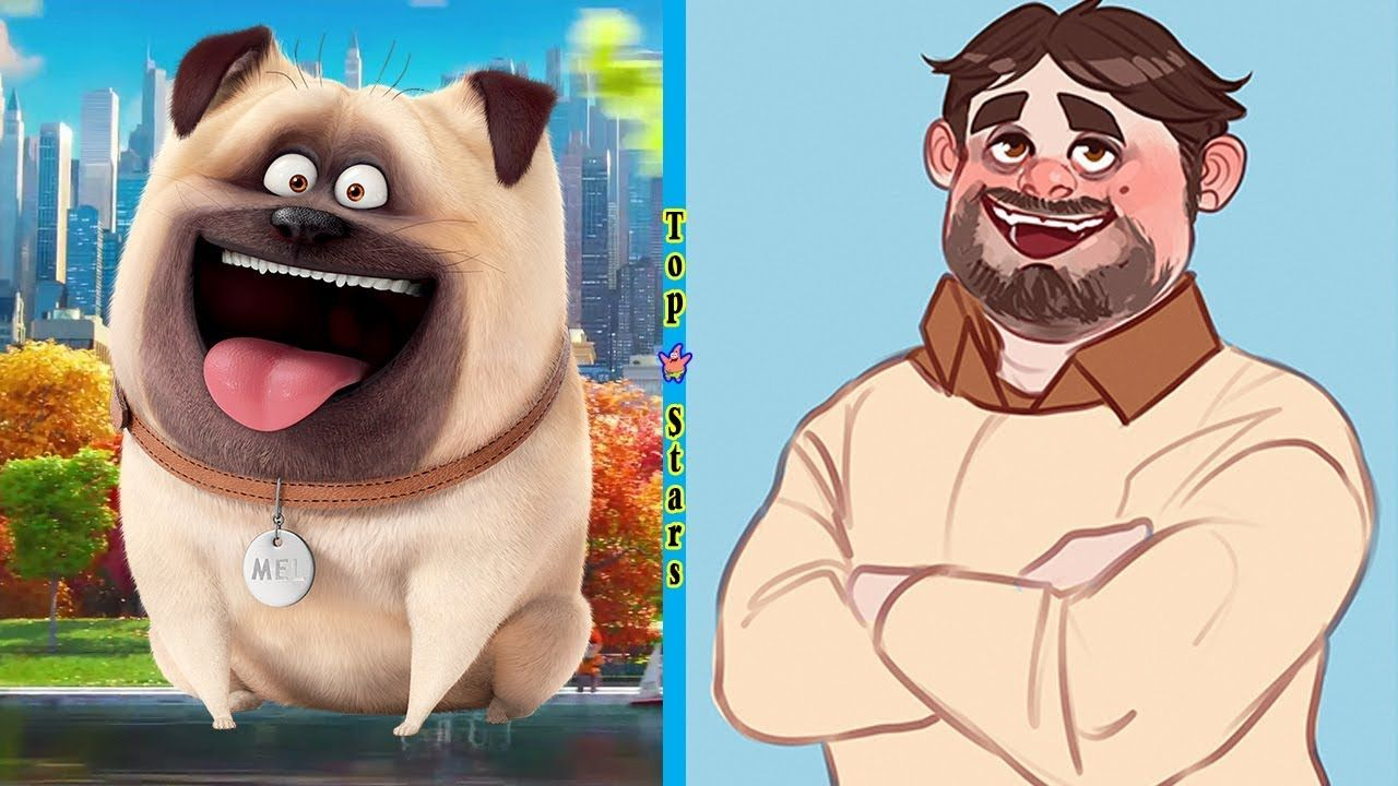 The Secret Life Of Pets Human Version 2018 Top Stars Cartoon Characters As Humans Secret Life Of Pets Character Design