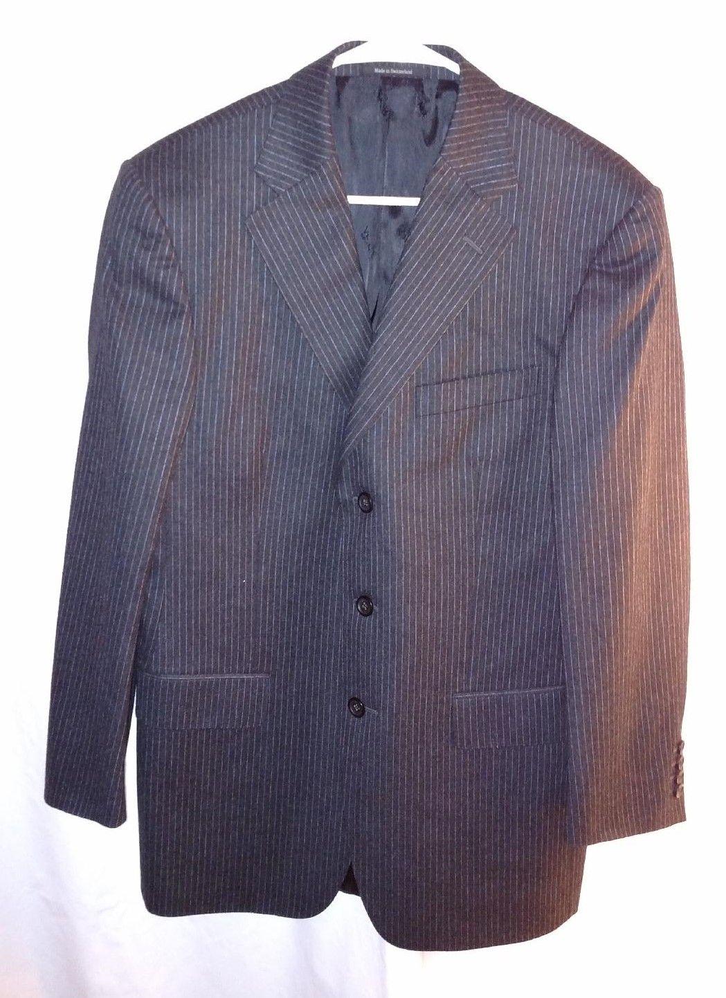 Versace mens pinstripe blazer sportcoat fashion