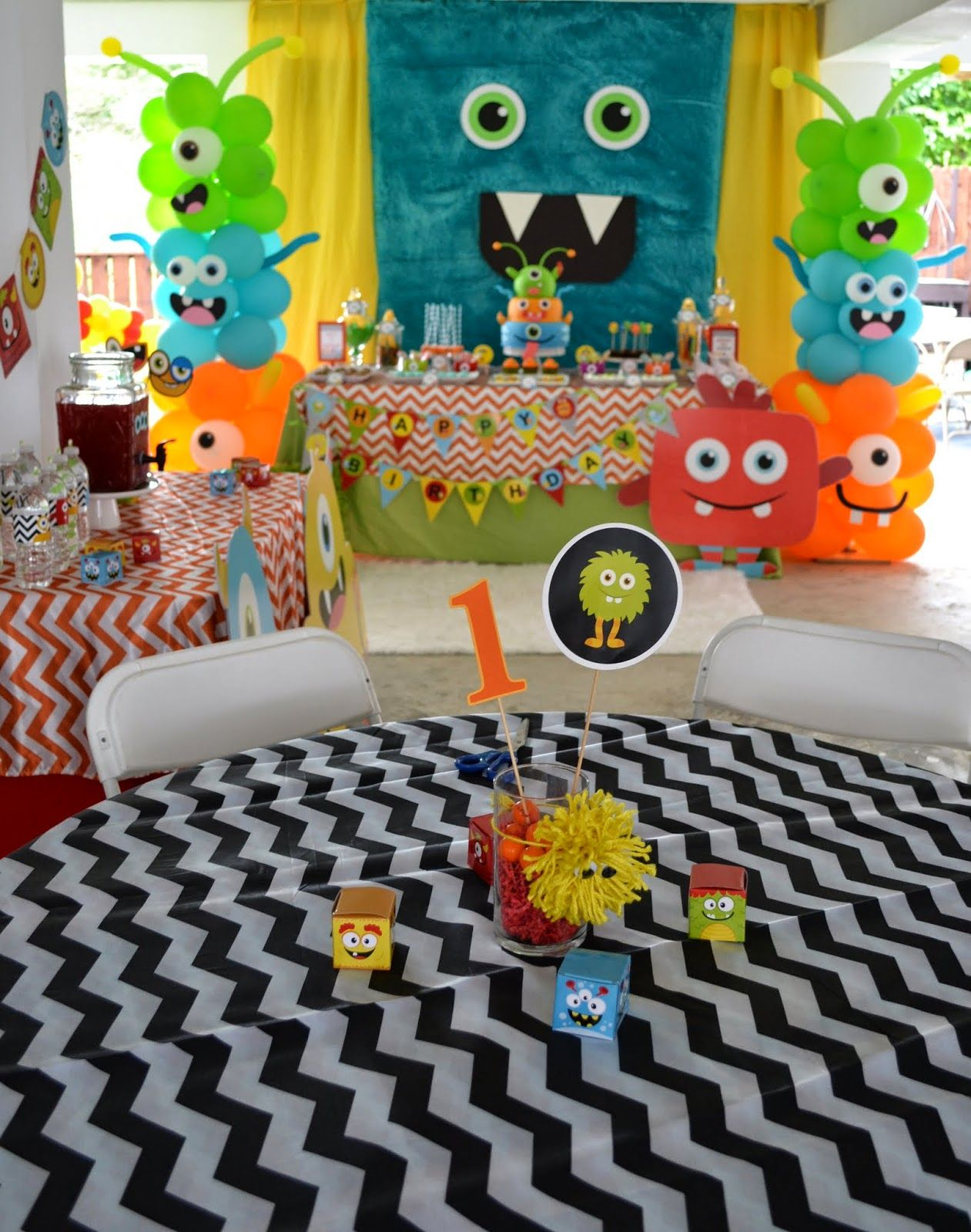 Partylicious Baby Monster Kid Party Ideas Pinterest