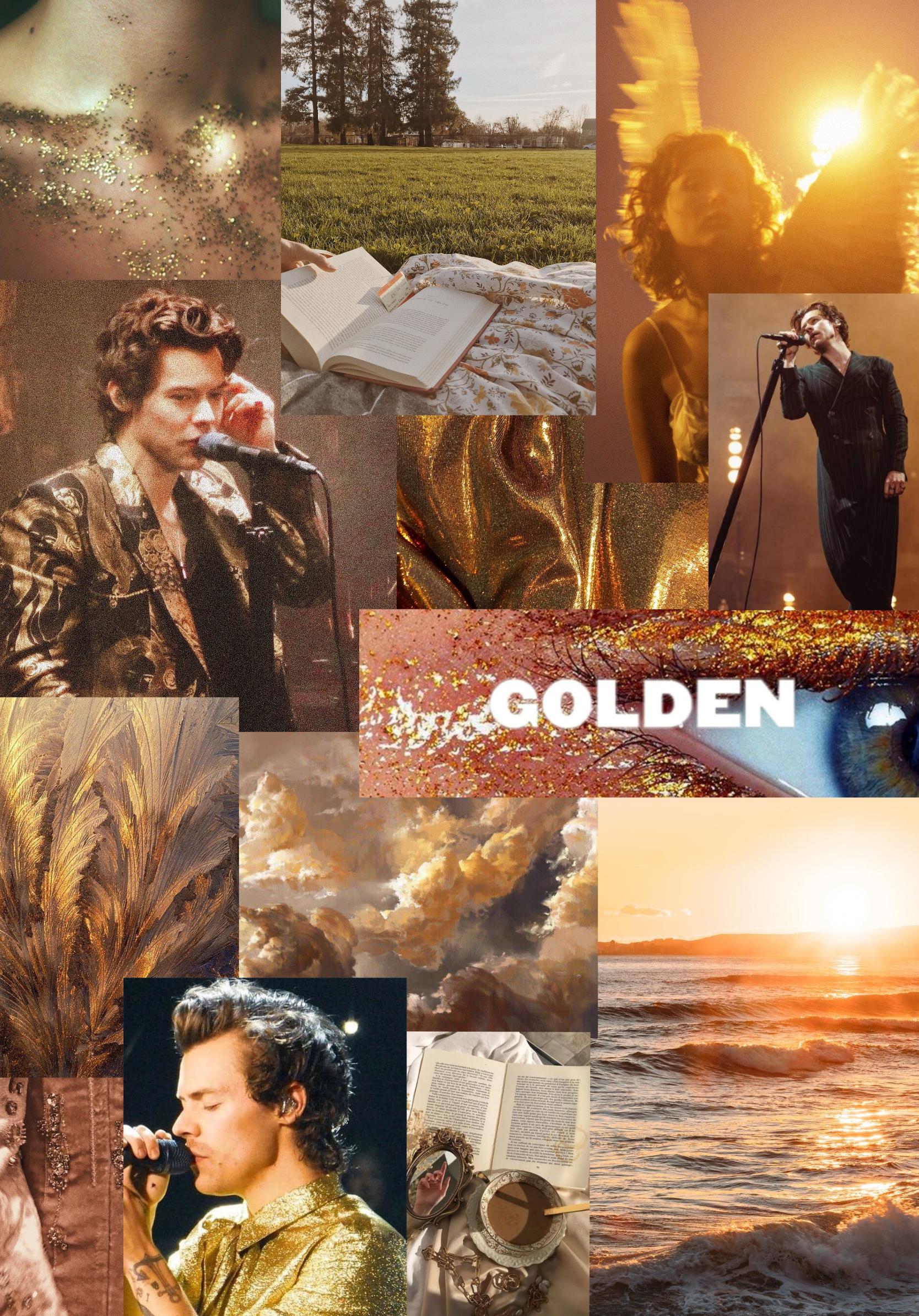 Harry Styles Golden Aesthetic Wallpaper In 2020 Harry Styles Photos Harry Styles Pictures Harry Styles Wallpaper