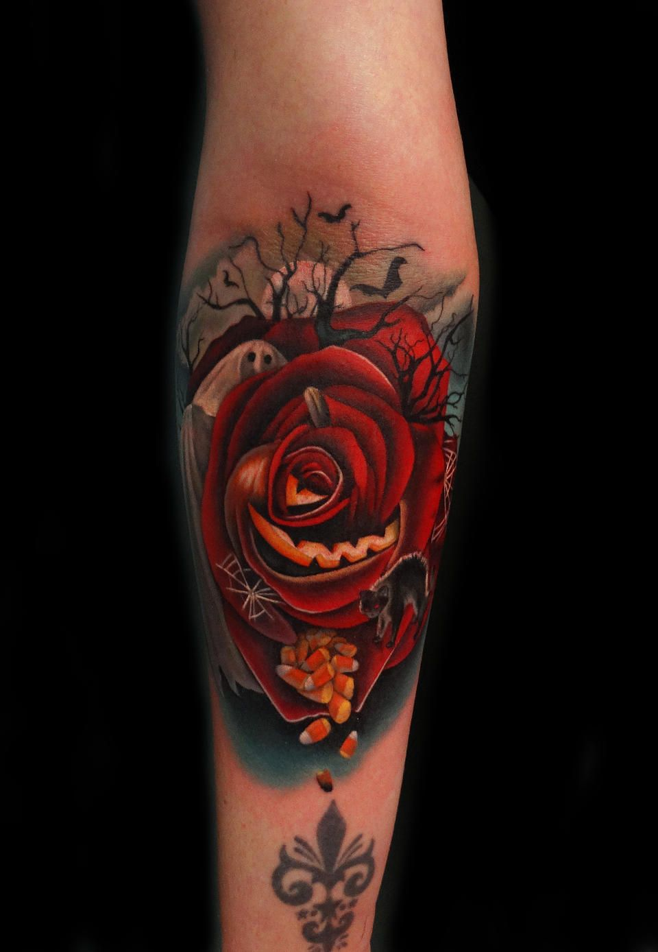 ef9c87ed726 Halloween Rose Tattoo by Andrés Acosta | Tattoo Artist - Andres ...