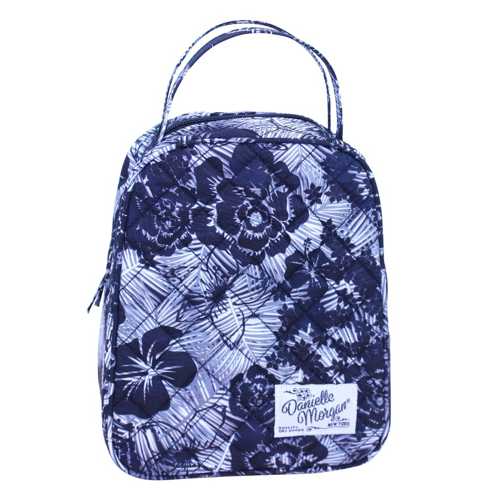 e68be046d7 Danielle Morgan Quilted Lunch Bag - Black and White Floral, Multi-Colored