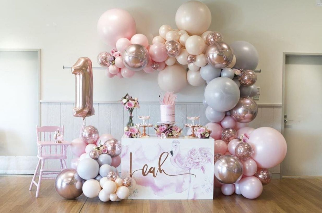 Balloons Decoration Ideas For Birthday Party Jihanshanum Flamingo Birthday Party 1st Birthday Party For Girls Birthday Decorations