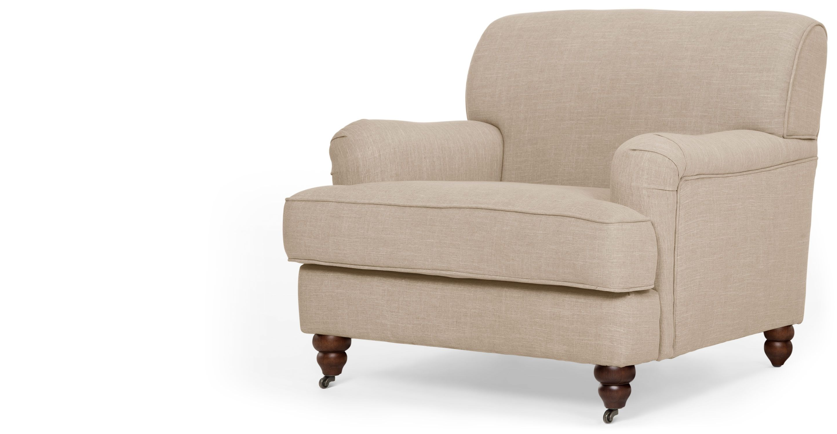 Orson Armchair, Biscuit Beige - chair for back living room?