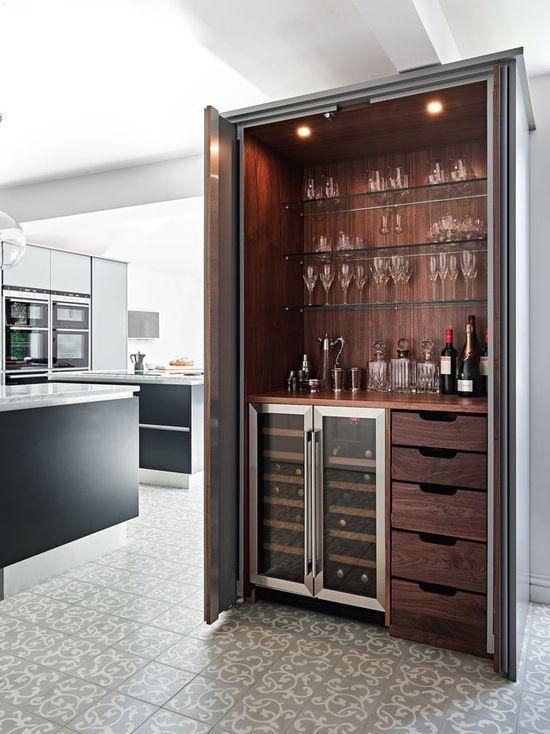 Modern Hidden Bar Billiardfactory Com Bar En Casa Bares En Casa