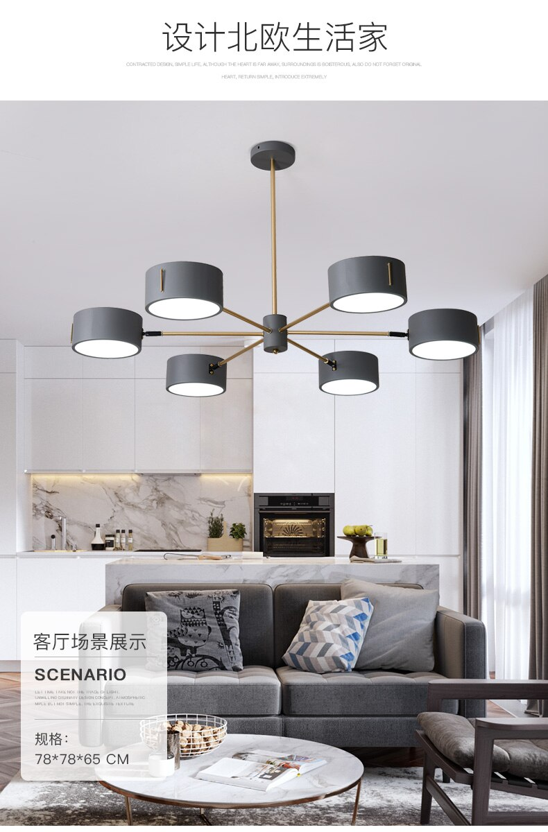 Modern Simplicity Led Chandeliers Living Room Suspended Lamps