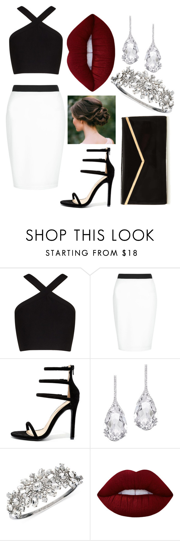 """Lips Standing Out"" by norasheehan2000 ❤ liked on Polyvore featuring BCBGMAXAZRIA, New Look, Liliana, Plukka, Givenchy and Lime Crime"