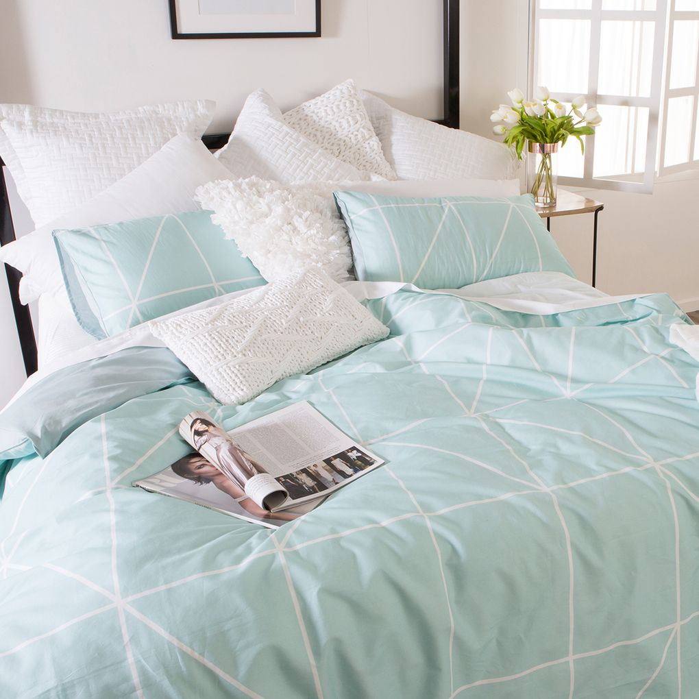 white bed sheet texture. The On-trend Pastel Print Is Perfect All Year Round \u2013 Match With Textured Cushions, Metallic Accessories And Fresh White Bed Linen Sheet Texture O
