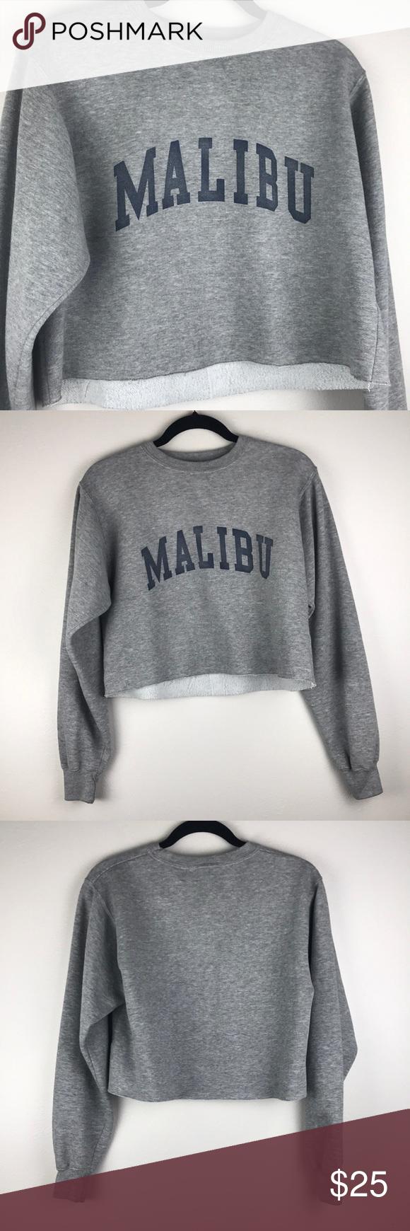 John Galt Crop Malibu Crewneck Sweatshirt Crew Neck Sweatshirt Sweatshirts Crop Sweatshirt [ 1740 x 580 Pixel ]