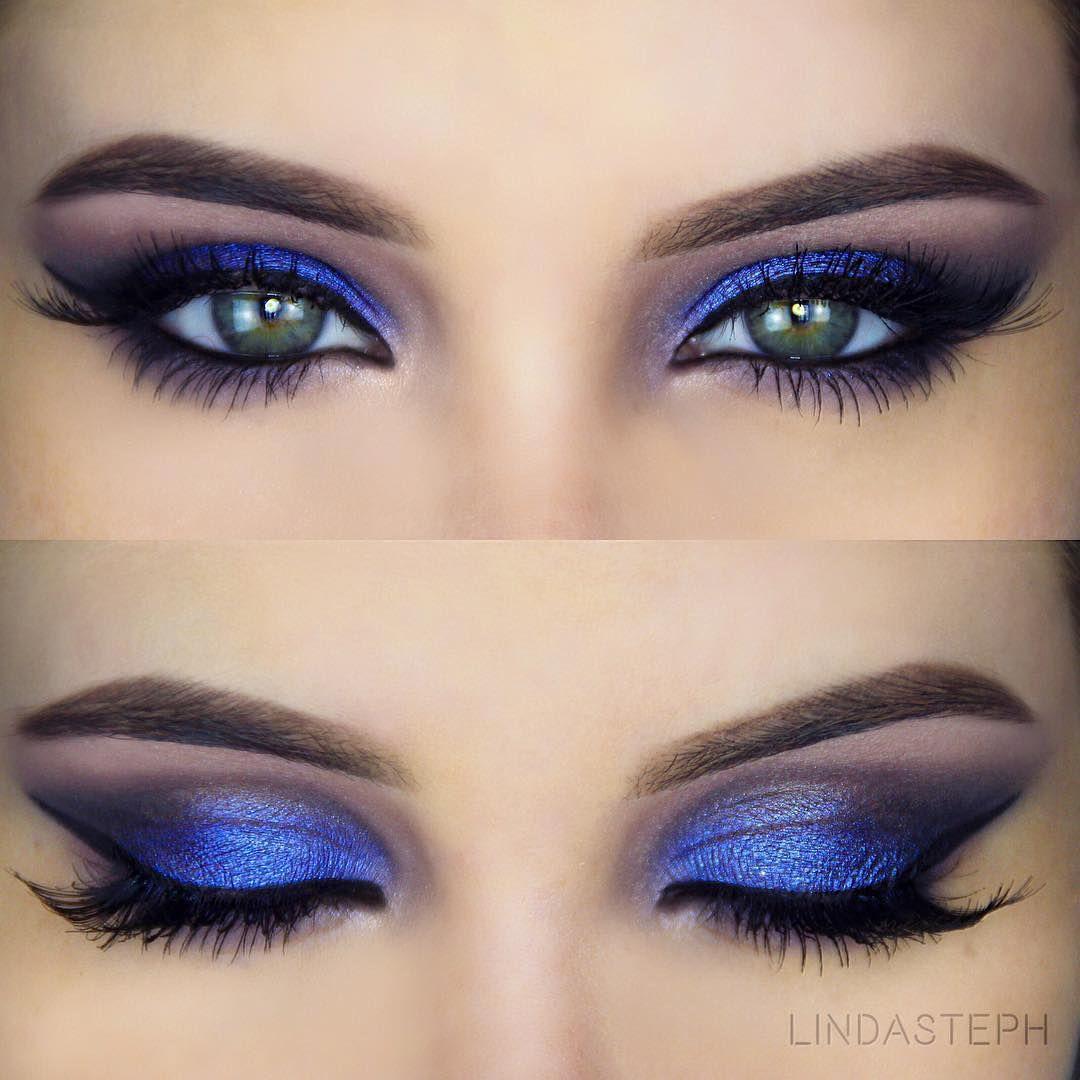 Instagram Blue makeup, Blue dress makeup, Blue eye makeup