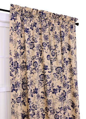 Ellis Curtain Palmer Floral Toile 50-Inch-by-63-Inch Tailored Panel, Navy Ellis Curtain http://www.amazon.com/dp/B005NO7XBW/ref=cm_sw_r_pi_dp_Eyouub0Y3FBJ2