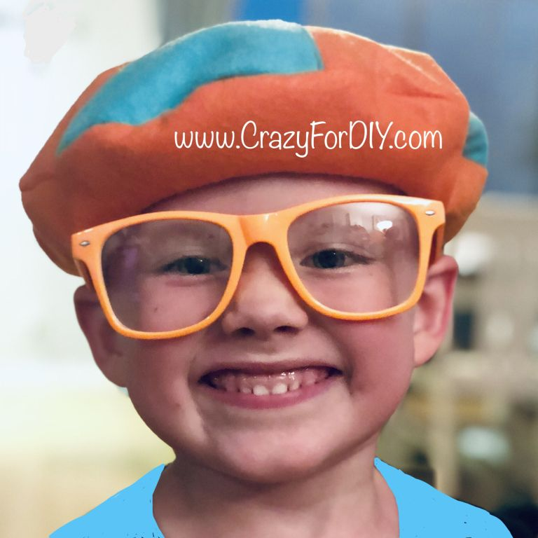 0c71732bdcff9 Blippi Felt Hat Beret DIY – Large Size – Crazy for D.I.Y. easy tutorial   halloween  costume