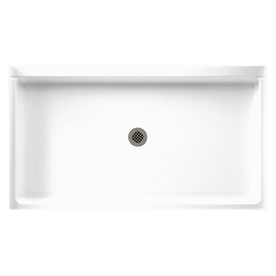 Swanstone White Solid Surface Shower Base Common 34 In W X 60 In