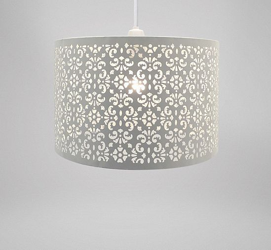 Tesco direct country club easy fit 29cm moroccan ceiling light tesco direct country club easy fit 29cm moroccan ceiling light shade white aloadofball Images