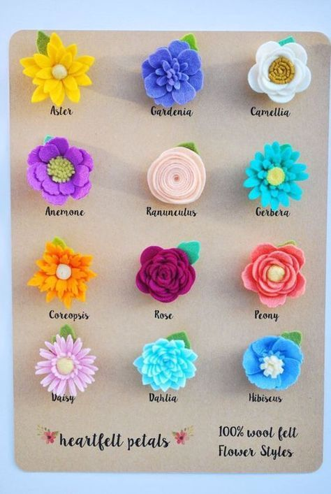 Pin By Alias On Craft Felt Flowers Diy Felt Flowers Fabric Flowers