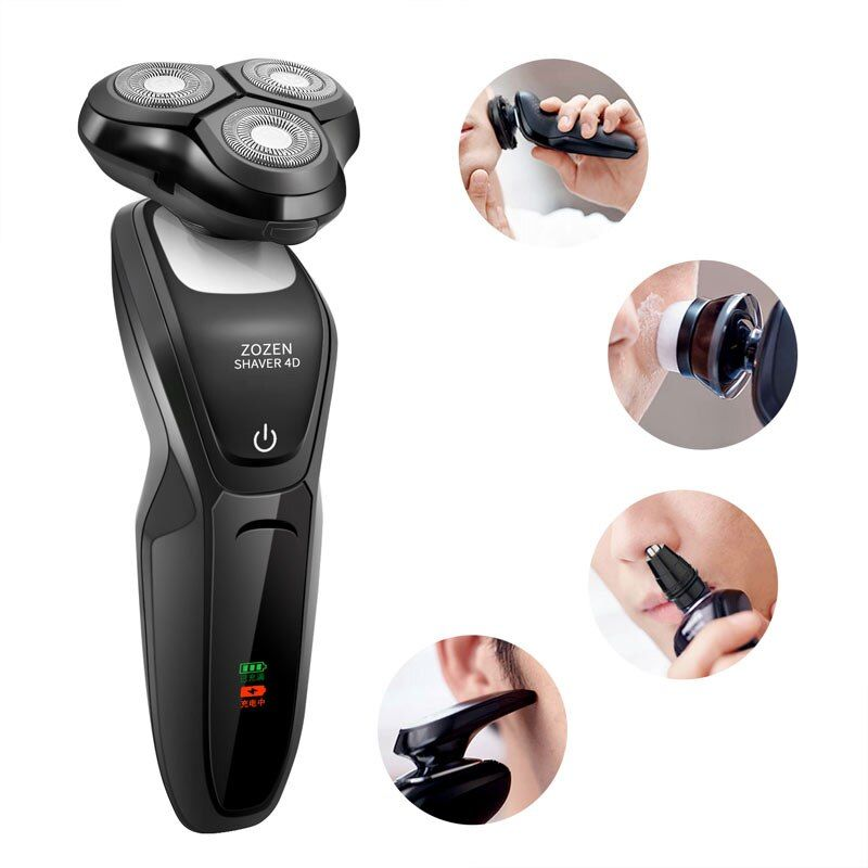 Discount Price Men S 4d Electric Shaver Oem Beard Trimmer 3 Blade Drop Shipping Rechargeable Razor In 2020 Shaving Machine Face Care Electric Shaver