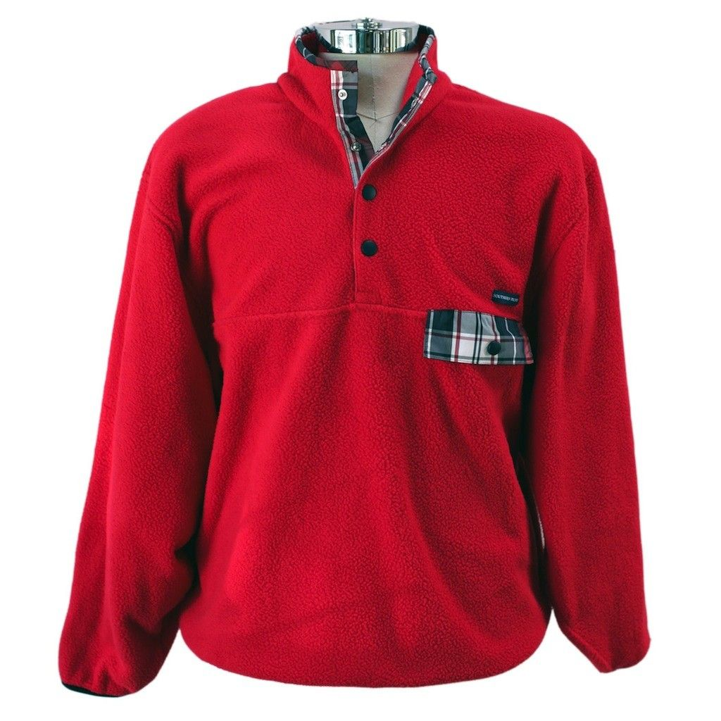 Preps don't hibernate for the winter, so you are going to need to layer up and why put all that effort into wearing the perfect shirt underneath if you are going to skimp on the top layer? With this Southern Proper pullover with tartan accents and a classic shape, no one will ever accuse you of skimping. They will only accuse you of being one handsome son of a gun.