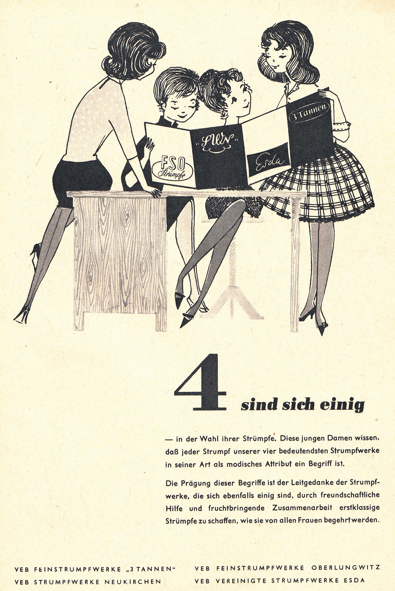 Was Ist Vintage esda east german vintage ad ddr werbung gdr 1961 vintage