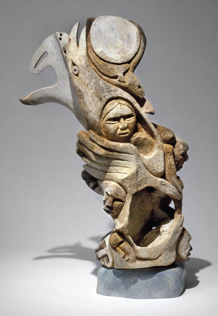 Kittigazuit Sculptures by Inuit Artist Abraham Anghik