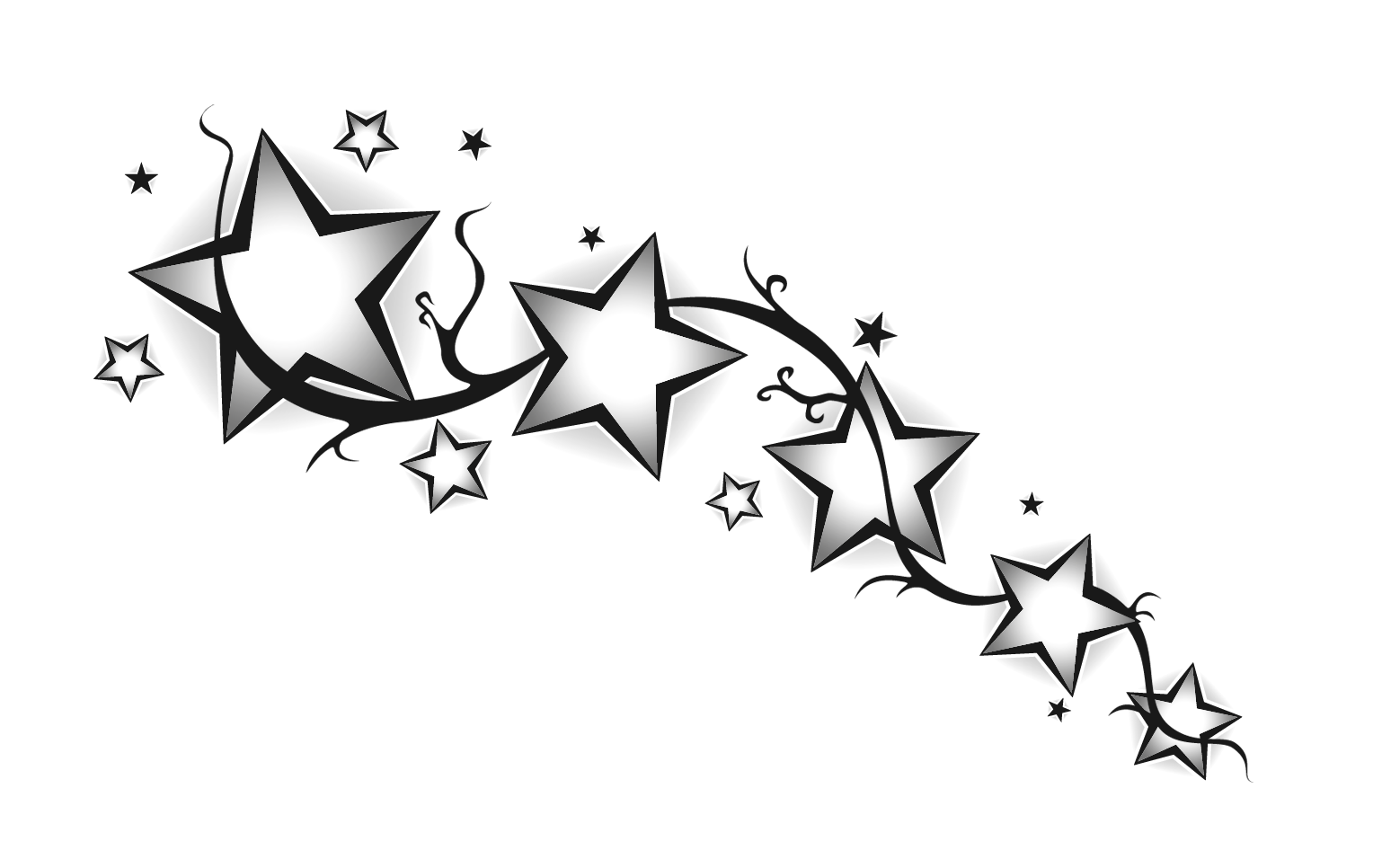 The Best Star Designs For Tattoo Only On Tattoohunternet Picture 1563 Star Tattoo Designs Star Tattoos Shooting Star Tattoo