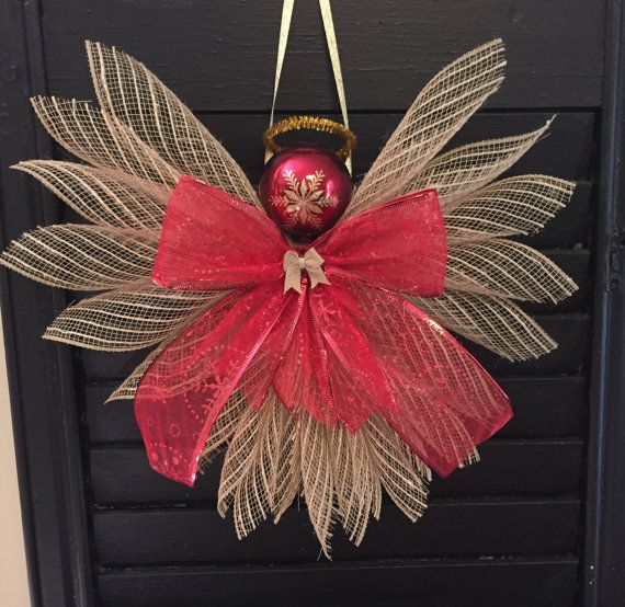 Angels Deco Mesh By Craftnrelax On Etsy Burlap Christmas