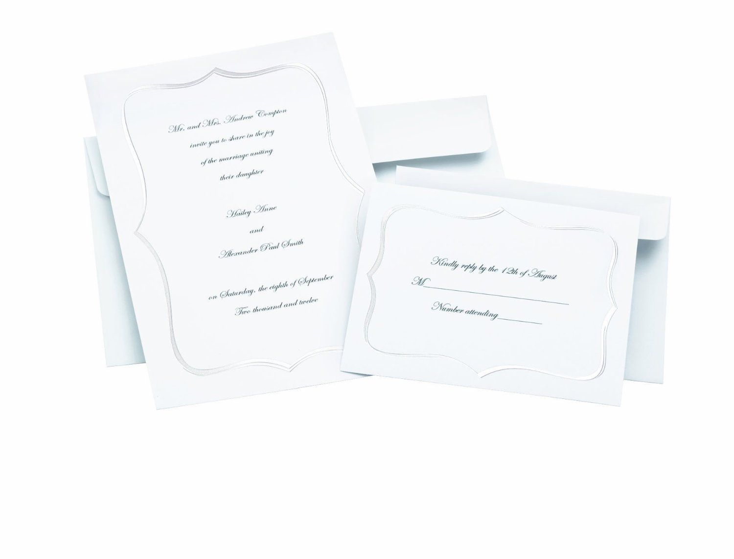 Amazon Com Wilton 1008 1601 White Pearl Frame Invitation Kit 50